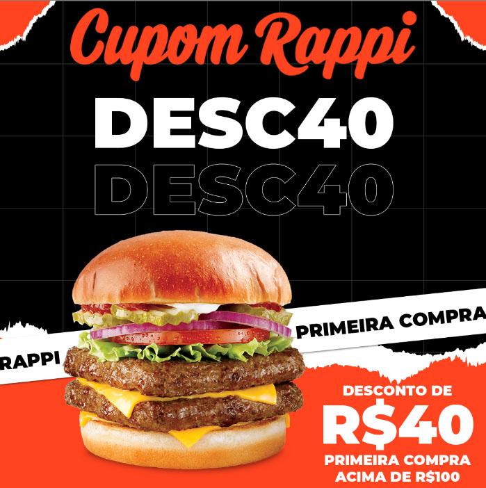 Cupom Rappi DESC40